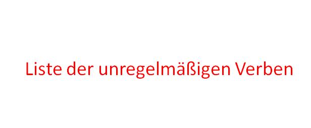 ifiogu - Liste der unregelmäßigen Verben