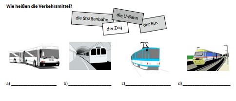 GHZRXZTC - Wie heissen die Verkehrsmittel?