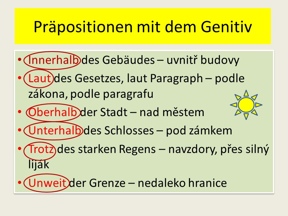 zguinm 1 - Präpositionen mit dem Genitiv