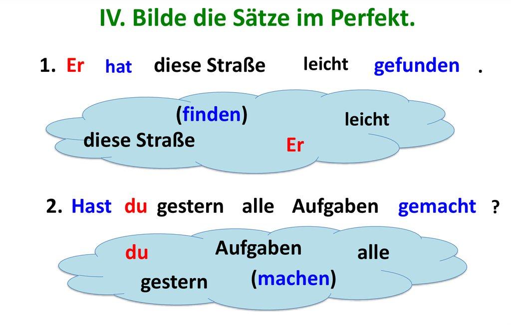 ABq2b - Bilde die Sätze im Perfekt