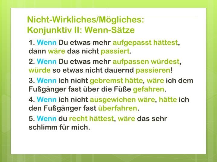 wrbqwbh - Wenn - Sätze