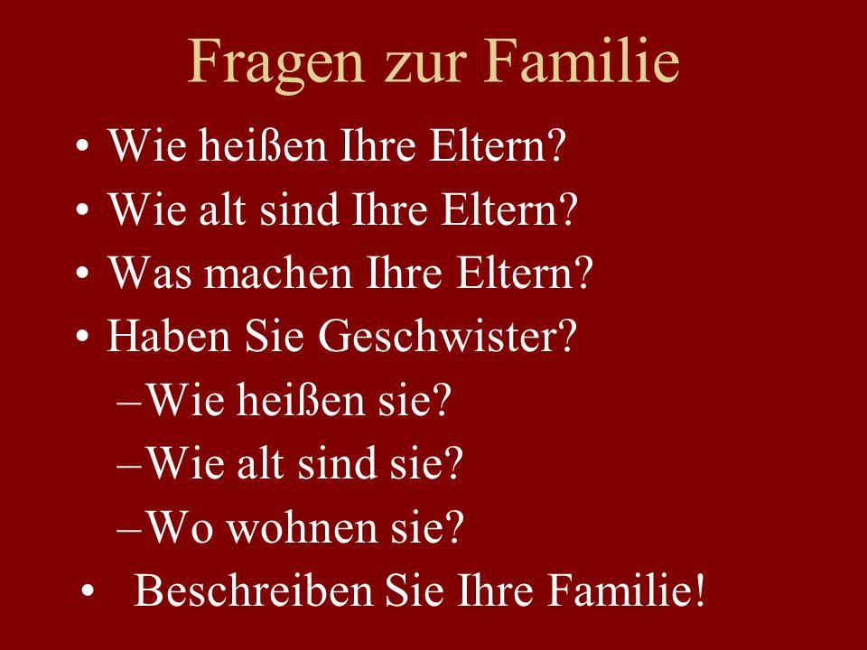 fzguhoij - Fragen zur Familie