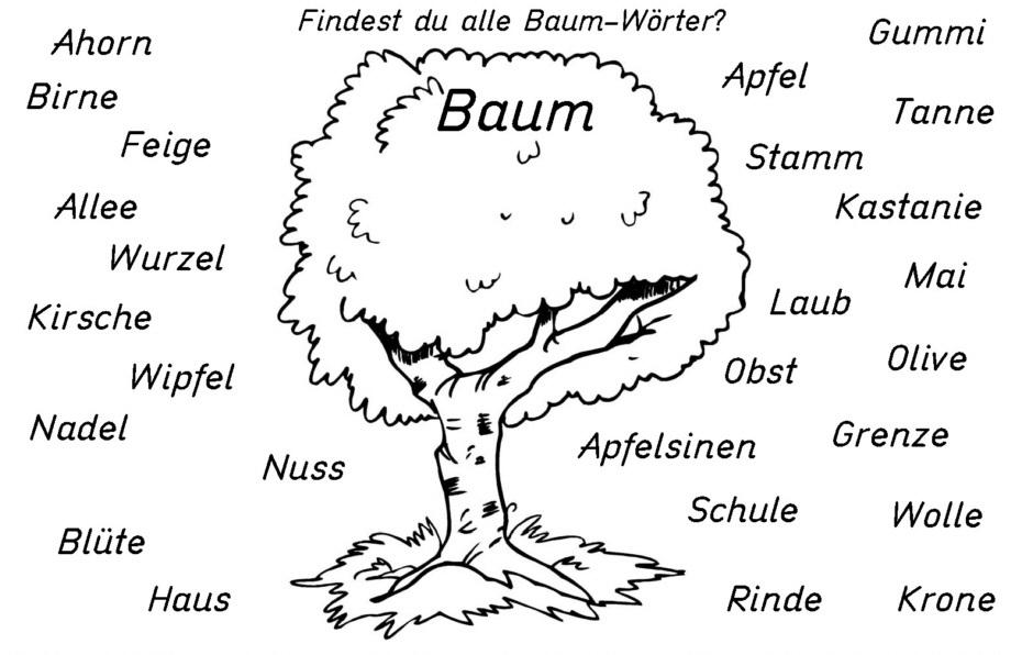 sntnnnnn - Findest du alle Baum -Wörter