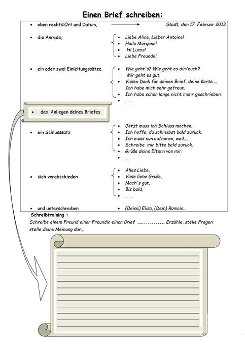 Einen Brief Schreiben Deutsch Viel Spass