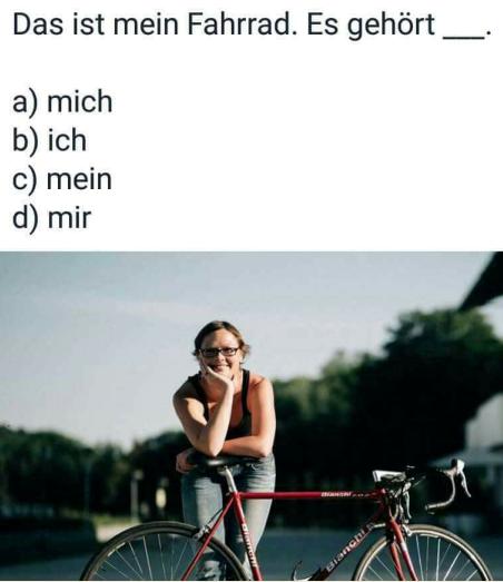jkhzutfu - Mein Fahrrad. Antworten Sie.