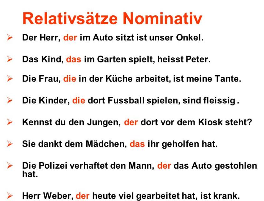 h42h2 - Relativsätze Nominativ