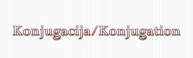 ugzhg - Konjugation/Konjugacija