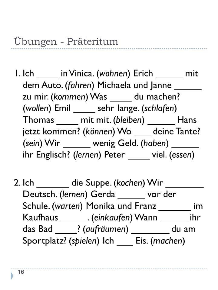 wgr5gh - Übungen - Präteritum