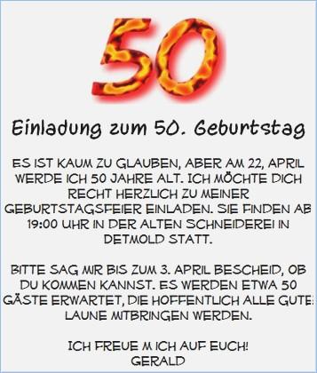 efwf - Einladung zum 50. Geburtstag