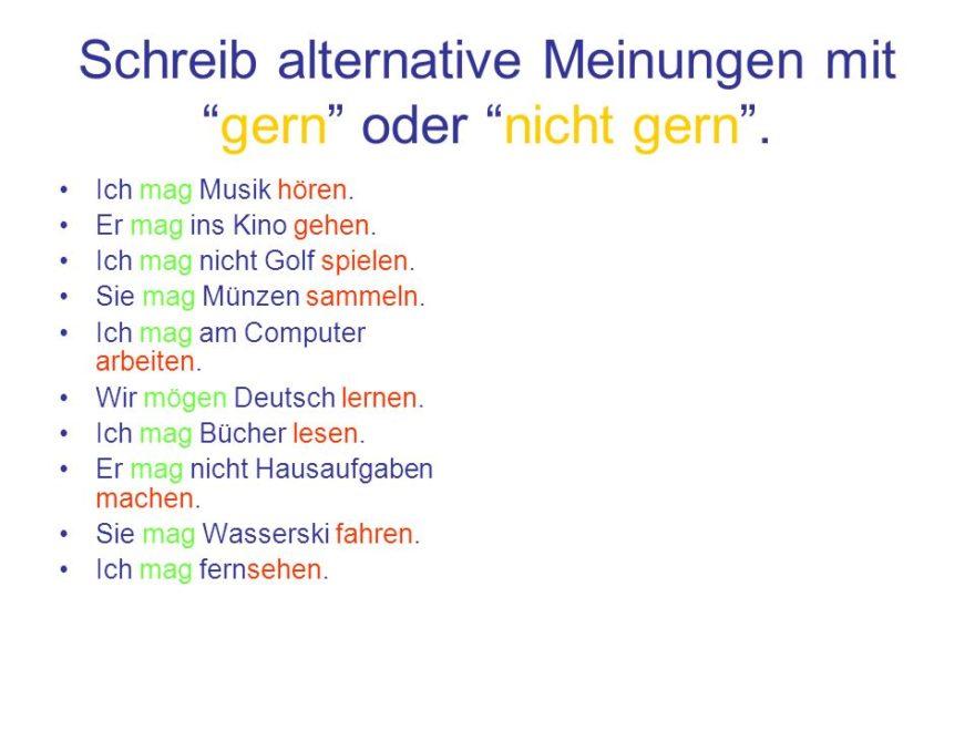 """ftdzzž 880x660 - Schreib alteranative Meinungen mit """"gern"""" oder """"nicht gern"""""""