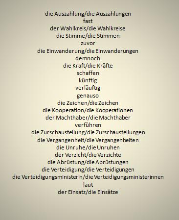 dtfzigu - Wörter