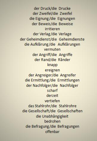 srdftzg - Wörter