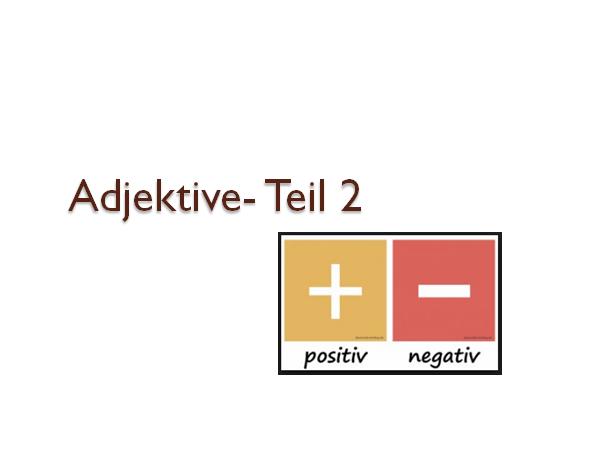 rzctufzi - Adjektive - Teil 2