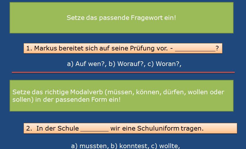 Screenshot 1 - Ergänzen Sie