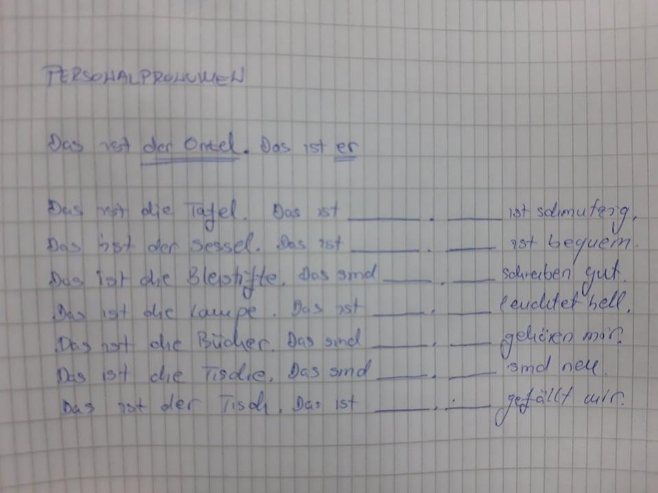 rdztfuzgiuhoi - PERSONALPRONOMEN