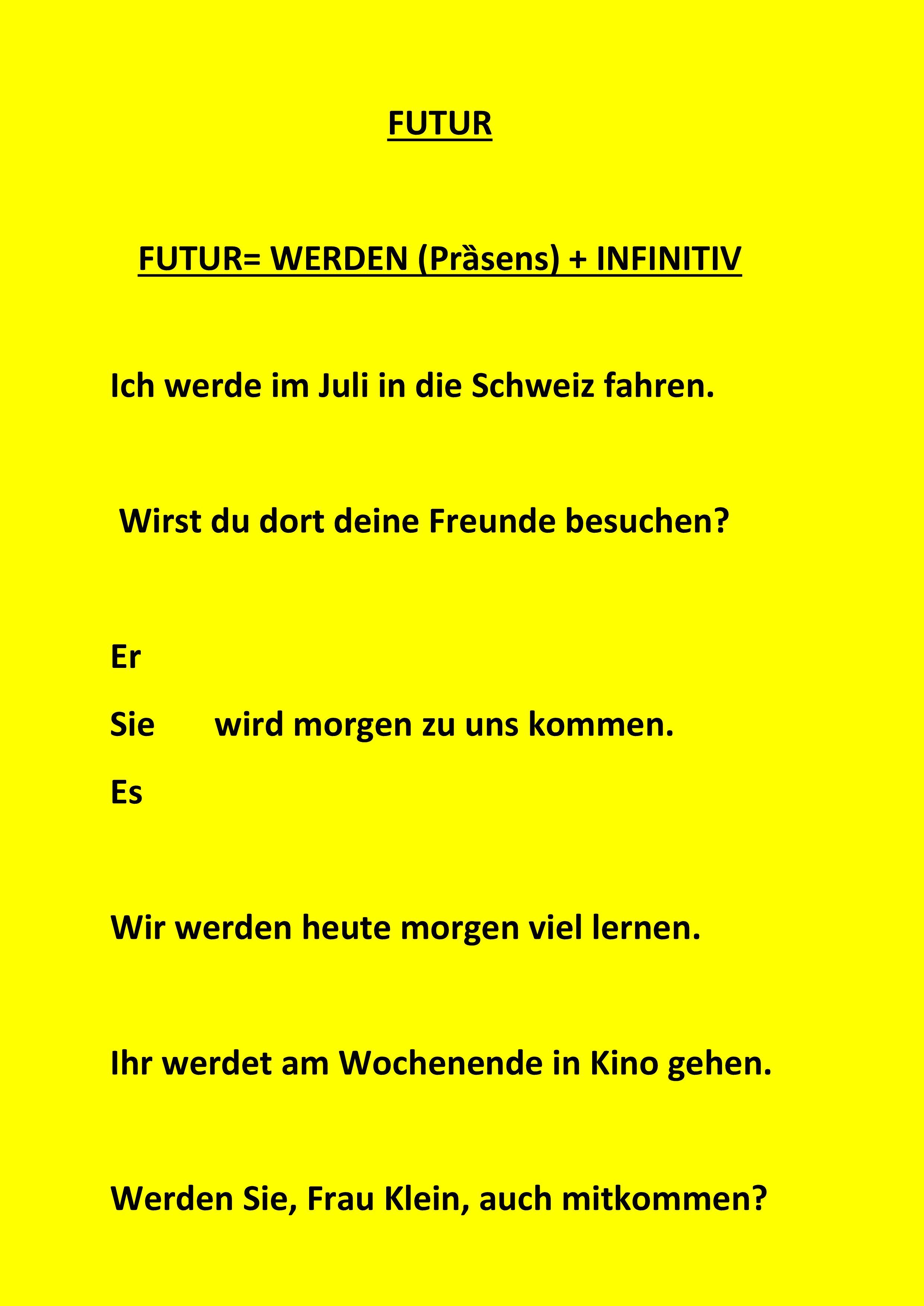 FUTUR - FUTUR