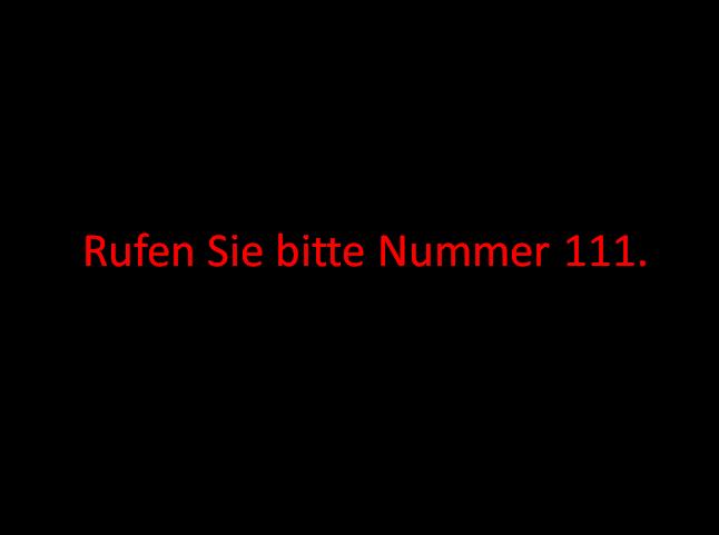 Screenshot 2 - Rufen Sie bitte Nummer 111.