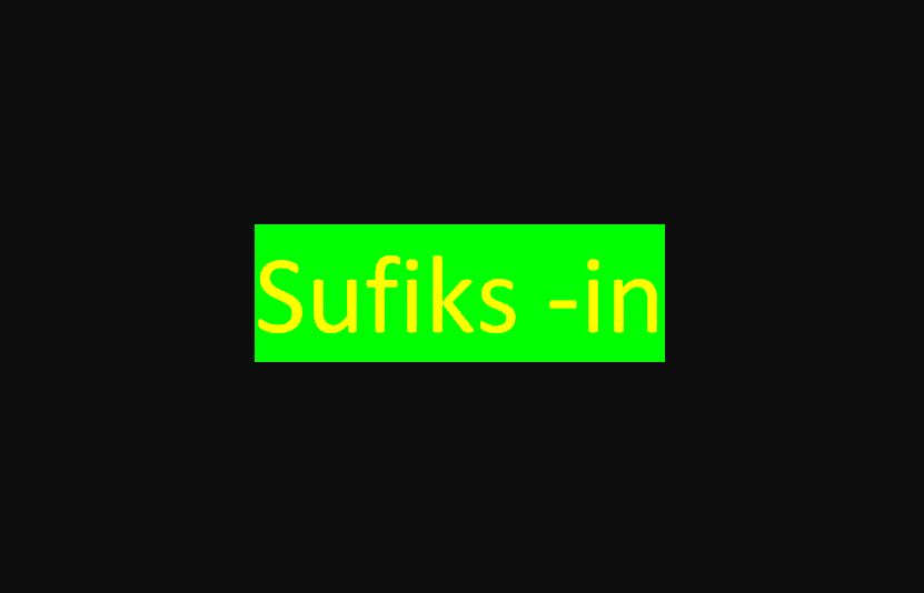 asfaf - Sufiks -in