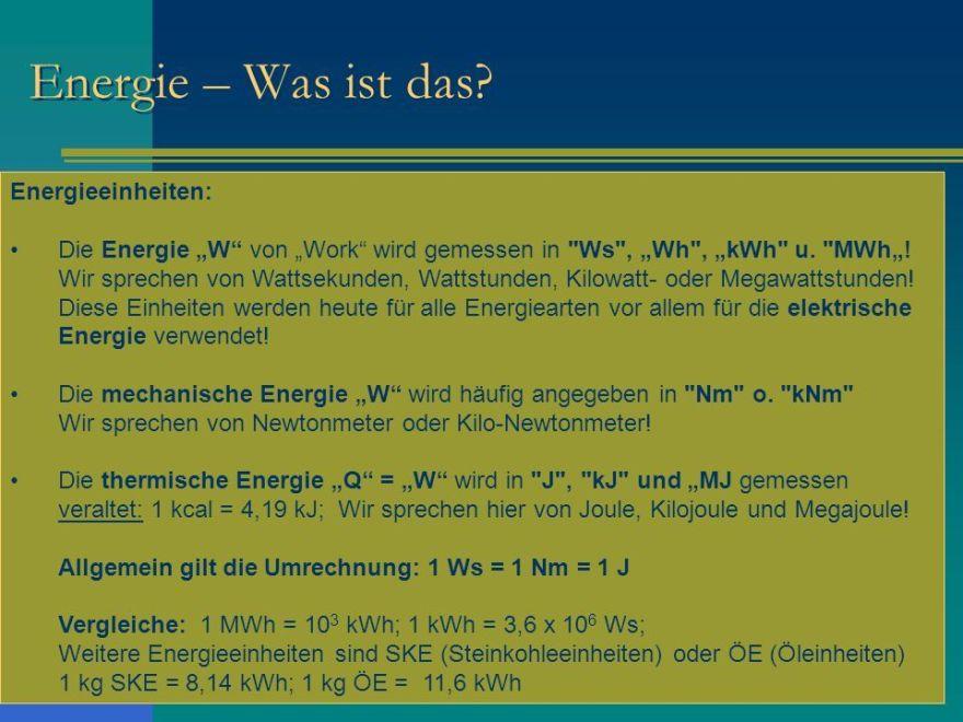 BN35HJ3 - Energie -Was ist das ?