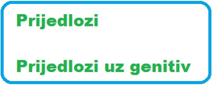 oougzif - Prijedlozi uz genitiv