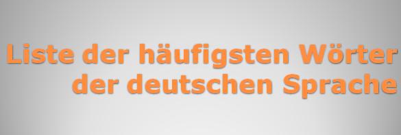 pihougizf - Liste der häufigsten Wörter der deutschen Sprache