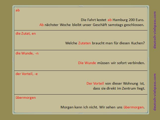 g8zfg - Wörter und Sätze