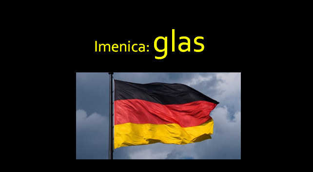 glas - Imenica: glas