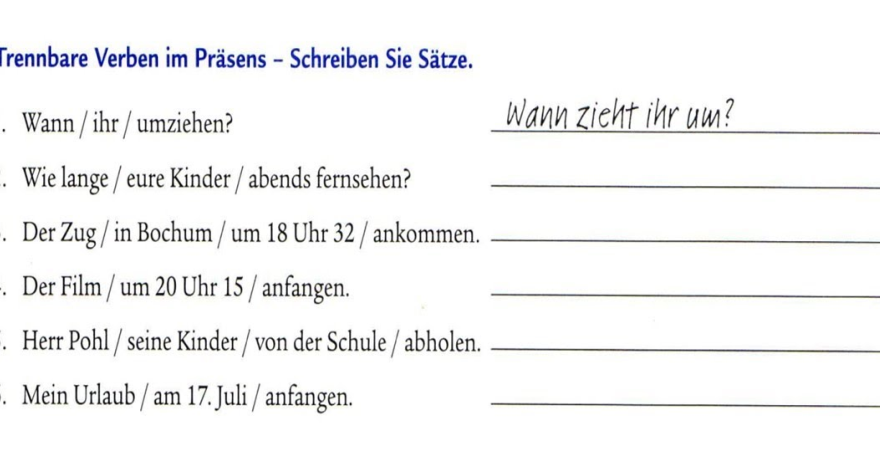 uzftoz - Schreiben Sie Sätze