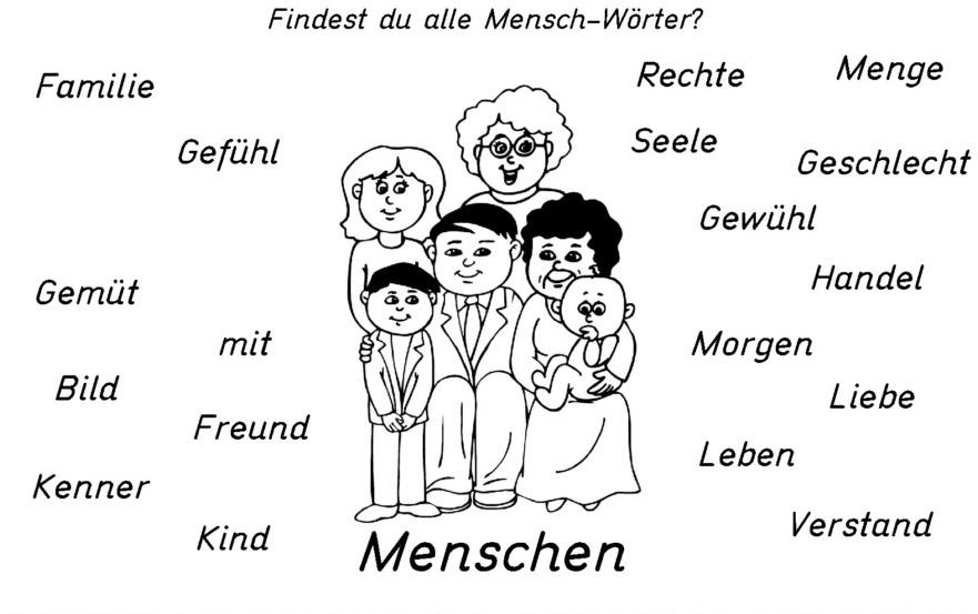 afew - Findest du alle Mensch – Wörter?