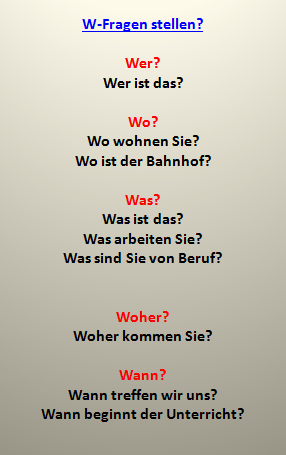dref - W-Fragen stellen