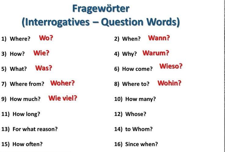 ewf34f - Fragewörter