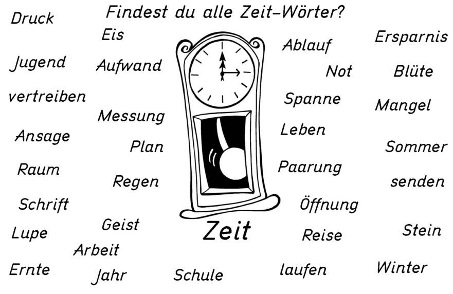 kutizdzu - Findest du alle Zeit -Wörter