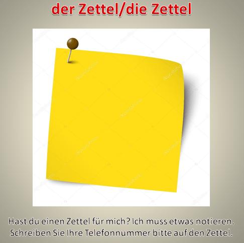 22222 - der Zettel/die Zettel