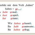 """cztvguh 150x150 - Perfekt mit dem Verb """"haben"""" haben+ge….t"""