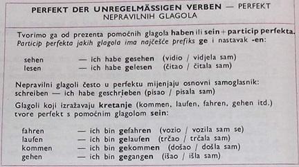 lkjhž - PERFEKT NEPRAVILNIH GLAGOLA