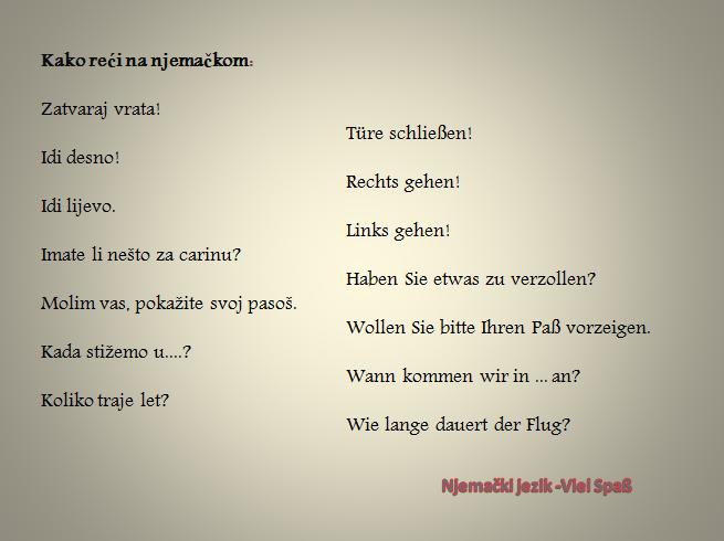 4 - Kako reći na njemačkom?