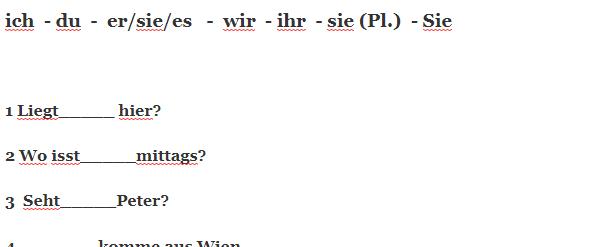 ilhugkz - Kreuzen Sie das passende Personalpronomen an.