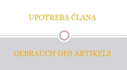 GEBRAUCH - GEBRAUCH DES ARTIKELS