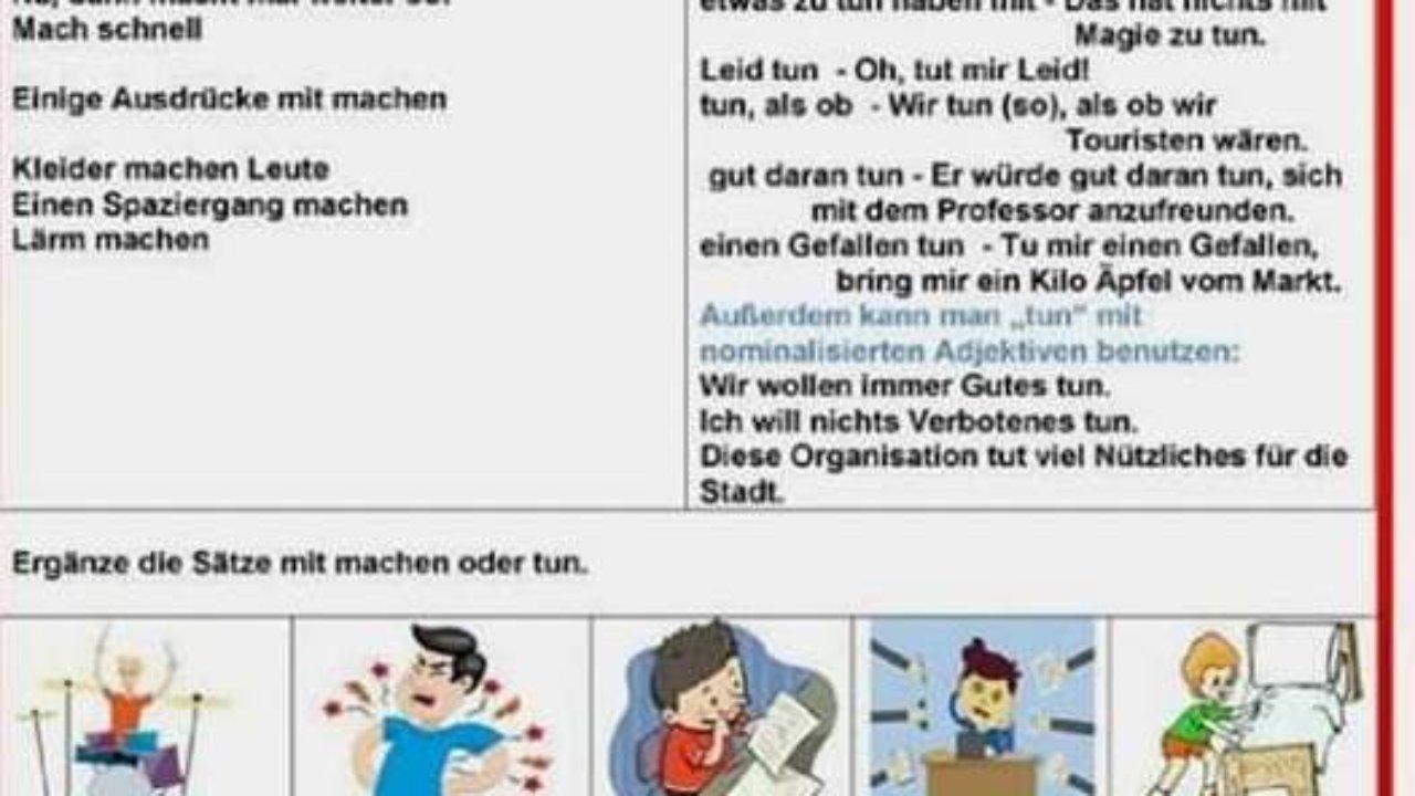 MACHEN TUN   Deutsch   Viel Spass